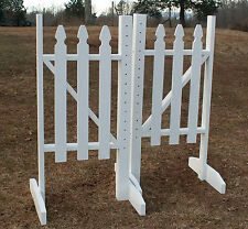 Horse Jumps Picket Fence Wing Standards 5ft/Pair - White #222