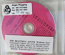 The BEAUTIFUL SOUTH CD Prettiest Eyes 3 Track UK PROMO w/ Stickered case UNPLAYE