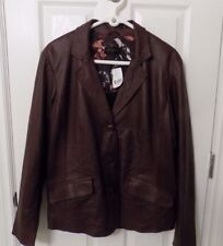New Ladies Danier Leather Jacket XL Merlot Color