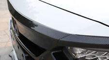 Carbon Fiber Look Front Hood Lid Bonnet Cover Trim 3pcs for Honda Accord 2018
