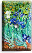 Vincent Van Gogh Irises Flower Garden Light Dimmer Cable Plates Art Studio Decor