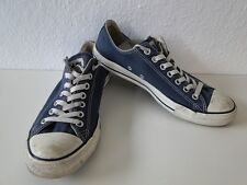 Converse All Star Chucks Sneaker Turnschuhe Slim Low Stoff Blau Gr. 8,5 / 42