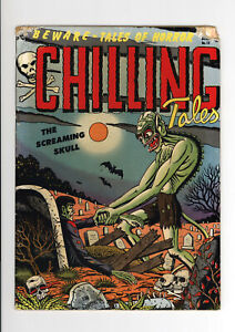 CHILLING TALES #13  (1st issue) - HORRIFIC COVER And STORIES - 1952