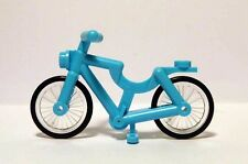 Lego Medium AZURE BICYCLE for Minifigures CITY Town Bike NEW