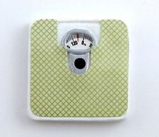 Dolls House Weighing Scales Miniature Bathroom Accessory Green