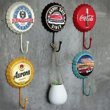 Retro Beer Bottle Caps Hook Tin Sign Wall Decor Metal Bar Plaque Pub Home Shop