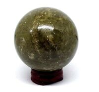 Grass Jasper Crystal Ball Divination Scrying 55mm 280g Sphere Gemstone & Stand