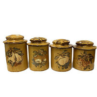 Vintage McCoy Ceramic Kitchen Canister Set 15446 Harvest Fruit MCM