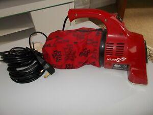 DIRT DEVIL Handy Zip Red Retro Vintage Handheld Vacuum Cleaner