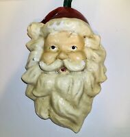 """Vintage Paper Mache Santa Face; Approx 15"""" Long And 11"""" Wide.  Christmas"""