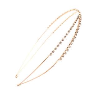 Women's Rhinestone Cross Thin Hair Hoops Hairband Crystal Headband Accessories