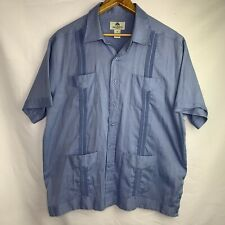 Mojito Collection Short Sleeve Guayabera Color Blue Men's Size 2x