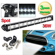 13Inch 36W White CREE LED Spot Light Bar Driving Offroad Work Lamp SUV ATV JEEP