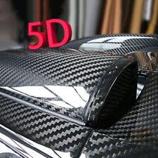 5D Carbon Fiber Fibre Vinyl Wrap Film Sheet Decal Sticker Car 30*152cm Black