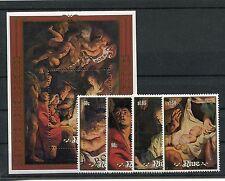 Niue 737/40 Block 113 postfrisch / Weihnachten - Gemälde - Rubens ........1/2104