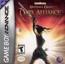 Baldur's Gate Dark Alliance Nintendo Gameboy Advance GBA