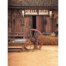 6x8ft Vinyl Texas Western Barn Cowboys Photography Studio Backdrop Background