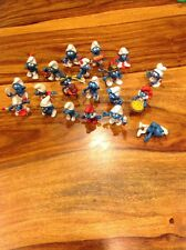 Lot Of 20 Vintage Smurf Toys Plastic Peyo Schleich 1970s 1980s West Germany Hong