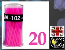 Swab Micro Brush Disposable Microbrush Applicators Eyelash Extensions PINK UK