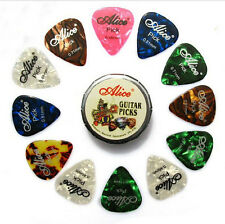 Guitar Pick 12pcs Mix Colors Xylonite Classic Pattern 3 Sizes in 1 Box Random