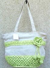 Bastshopper Bast & Leinen Tasche Sommertasche Bast SHOPPER Natur Farbe Ethno Bag