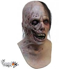 *Burnt Man Halloween Horror Zombie Fancy Dress Costume Latex Head And Neck Mask*