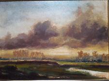 """Ölgemälde """"Landschaft im Gewittersturm"""" von Bruno Fischer-Uwe (1915-1992)"""