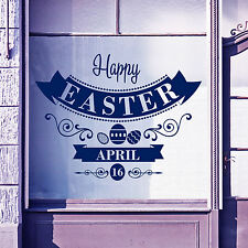 Easter Happy Day Greetings Vinyls Shop Window Display Wall Decals Stickers A401