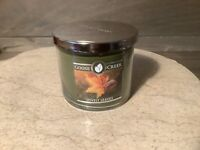 GOOSE CREEK LOVELY LEAVES Large 14.5 oz  Jar Candle NEW 3 WICK GREEN NICE!!