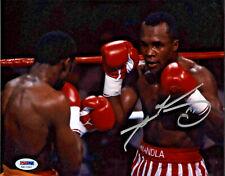 Sugar Ray Leonard Signed 8x10 Boxing Photo - Fists vs Hearns PSA DNA COA