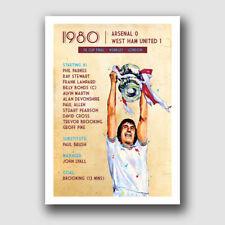 WEST HAM UNITED - 1980 FA CUP FINAL - FRAMED MATCH PRINT