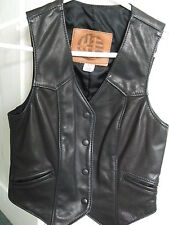 Kerr Ladies Leather Waistcoat,Slightly used UK 8, USA 6 Hell's Angels Rocker