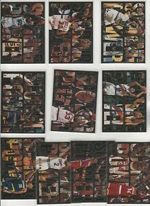 90's COMPLETE INSERT SET 1-10 1994-95 FLEER FLAIR SCORING POWER SHAQ PIPPEN DROB