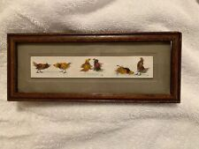 Antique Feather Rooster Fight