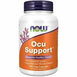 NOW Supplements, Ocu Support with FloraGLO Lutein, plus Vitamins A, C, E, 120 Ct