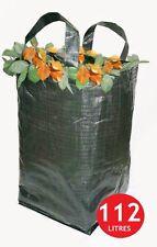 4 x heavy duty Tessuti Verde Rifiuti Giardino Sacco Rifiuti Sacchetto 112 LITRI PP cucita