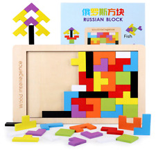 Tetris Wooden Puzzle Toy Brain Educational Tangram Toys Kids Game Teaser Jigsaw