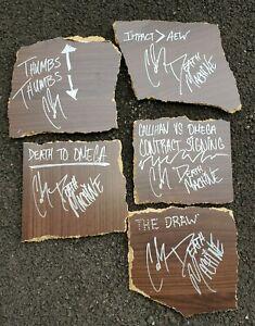 KENNY OMEGA Broken Table Slabs, autographed by SAMI CALLIHAN w/ IMPACT Hologram