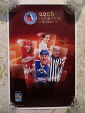c2405f318 2008 HOCKEY HALL OF FAME INDUCTION SIGNED POSTER ANDERSON LARIONOV print