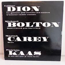 """MAXI 12"""" Compil PROMO Céline DION / BOLTON / MARIAH CAREY / KAAS SAMP 2105"""