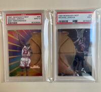 Lot (2) 1997-1998 Michael Jordan Bowman's Best Performance 96 & 60 PSA 9 MINT 🔥