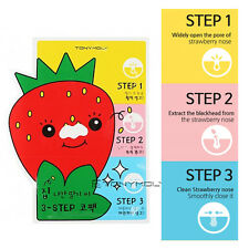 [TonyMoly]Runaway Strawberry Seeds 3 Step Nose Pack Blackhead Whitehead Remover