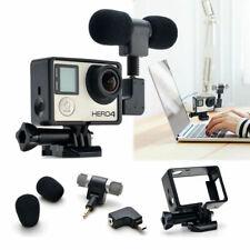 Kit 3,5 mm Accessoires MIC stéréo Microphone avec cadre pour GoPro Hero 3 3+ 4