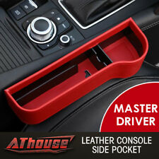 Leather RED Console Side Pocket Organizer Car Seat Catcher Cup Holder US STOCK