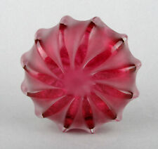 Teign Valley Glass (TVG) Red Flat Vortex Vase by Ian Hankey