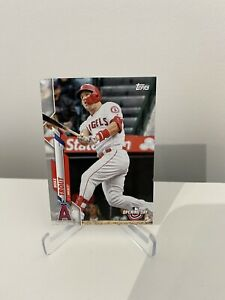 Mike Trout Topps Opening Day 2020 Baseball Card #90 Los Angeles Angels