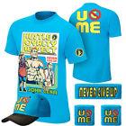 John Cena Sky Blue Throwback Mens Kids Boy Children T-shirt Hat Wristbands