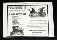 1904 OLD MAGAZINE PRINT AD, WOODS MOTOR VEHICLE, RELIABLE ELECTRIC RUNNING GEAR!