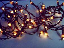 Brown Teeny Tiny Fairy Rice Silicone Bulbs 12' BROWN CORD  Light Strand 50 bulbs