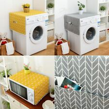 new Washing Machine Microwave Oven Dust Dirt Proof Cover W/Storage Pocket Wide-u